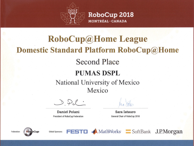 Second Place @Home DSPL