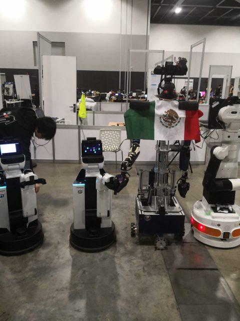 Robots Justina and Takeshi